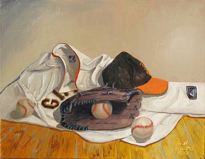Major League Baseball Painting - The Giant Sleeps Tonight by Ryan Williams