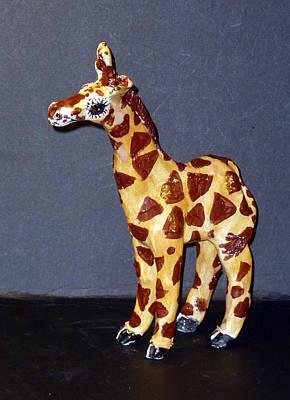 Customcrittersbydeb Sculpture - The Giraffe  by Debbie Limoli
