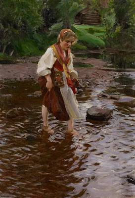 Zorn Painting - The Girl From Alvdalen by Anders Leonard Zorn
