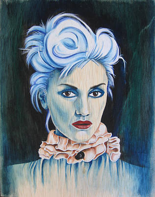 Gwen Stefani Painting - The Girl With No Doubt by Patrushka