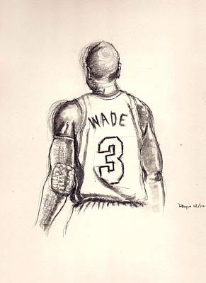 Miami Heat Drawing - The Gladiator by Dallas Roquemore