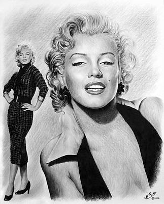 Marilyn Drawing - The Glamour Days Marilyn Monroe by Andrew Read