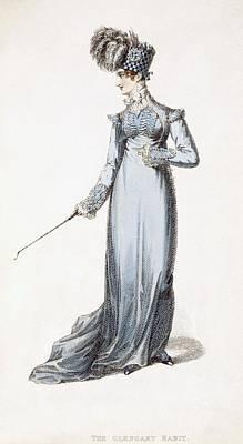 Ostrich Drawing - The Glengary Habit, Fashion Plate by English School