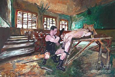 Homo Painting - The Glove - Der Handschuh -2557 by Lars  Deike
