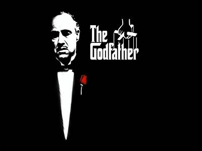 Black And White Digital Art - The Godfather by Cool Canvas