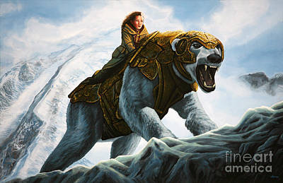 Bear Painting - The Golden Compass  by Paul Meijering