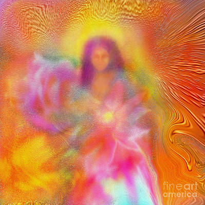 Angel Painting - The Golden Deva by Glenyss Bourne