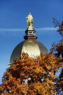 The Golden Dome Of Notre Dame Print by Mountain Dreams