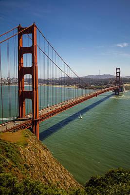 Golden Gate Photograph - The Golden Gate Bridge 2 by Garry Gay