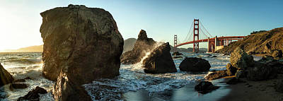 Famous Wave Photograph - The Golden Gate Bridge by Michael Kaupp