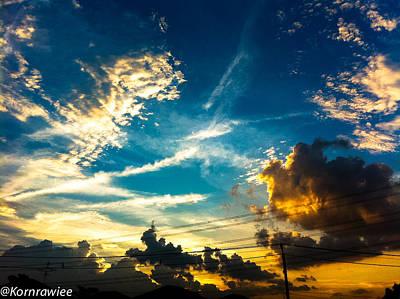 Photograph - The Golden Lines by Kornrawiee Miu Miu
