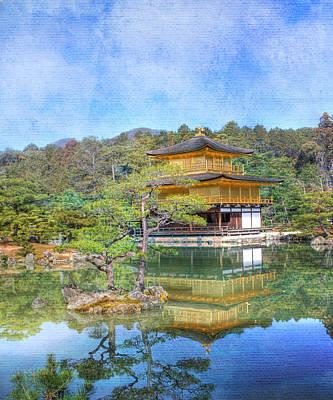 Buddhist Photograph - The Golden Pavilion by Juli Scalzi