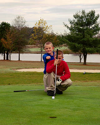 The Golfers Print by Bob Pardue