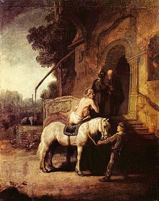 The Good Samaratin Print by Rembrandt