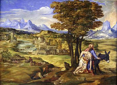 The Good Samaritan Print by Domenico Campagnola