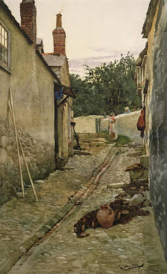 The Gossips Print by Walter Langley
