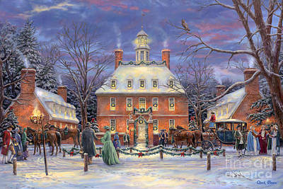 Historic Buildings Painting - The Governor's Party by Chuck Pinson