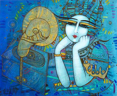 Painting - The Gramophone by Albena Vatcheva