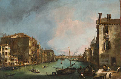 Venice Ca Painting - The Grand Canal In Venice With The Palazzo Corner Ca'grande by Canaletto