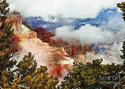 Rock Angels Digital Art - The Grand Canyon National Park by Bob and Nadine Johnston
