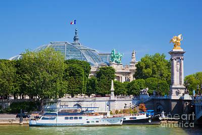 Ornate Photograph - The Grand Palais And The Alexandre Bridge Paris by Michal Bednarek