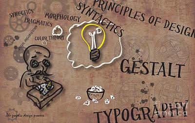 The Graphic Design Process Print by Jose Guerrero