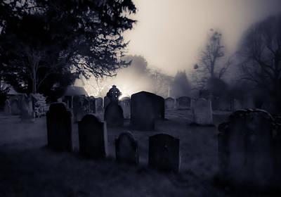 The Graveyard Print by Ian Hufton