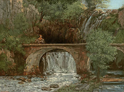 Donkey Painting - The Great Bridge, 1864 by Gustave Courbet
