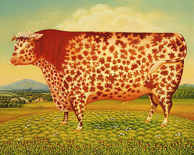 Cow Photograph - The Great Bull by Frances Broomfield