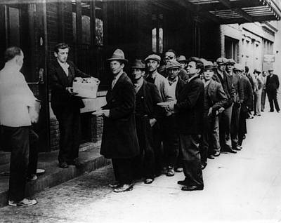 Bread Line Photograph - The Great Depression. Men Line by Everett