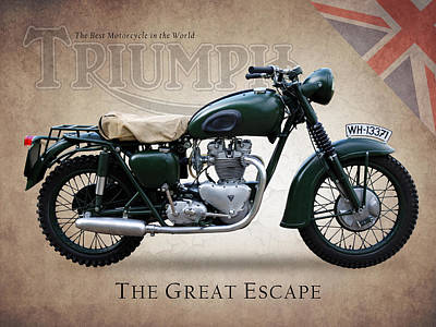 The Great Escape Motorcycle Print by Mark Rogan