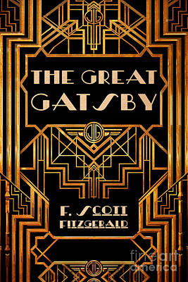 Famous Book Drawing - The Great Gatsby Book Cover Movie Poster Art 3 by Nishanth Gopinathan