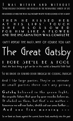 The Great Gatsby Quotes Print by Georgia Fowler