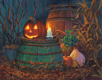 Night Scenes Painting - The Great Pumpkin by Michael Humphries