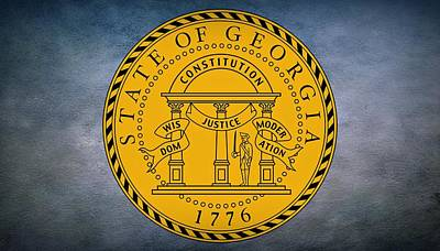 Coat Of Arms Digital Art - The Great Seal Of The State Of Georgia by Movie Poster Prints