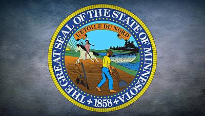 The Great Seal Of The State Of Minnesota Print by Movie Poster Prints
