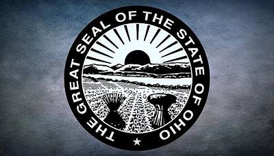 Coat Of Arms Digital Art - The Great Seal Of The State Of Ohio  by Movie Poster Prints