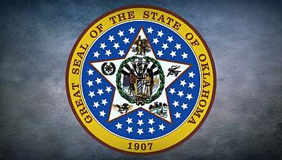 The Great Seal Of The State Of Oklahoma Print by Movie Poster Prints