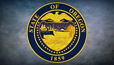 The Great Seal Of The State Of Oregon  Print by Movie Poster Prints