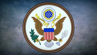 Coat Of Arms Digital Art - The Great Seal Of The United States  by Movie Poster Prints