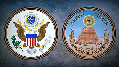 Coat Of Arms Digital Art - The Great Seal Of The United States Obverse And Reverse by Movie Poster Prints
