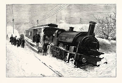 The Great Snowstorm The Flying Dutchman Off The Line Print by English School