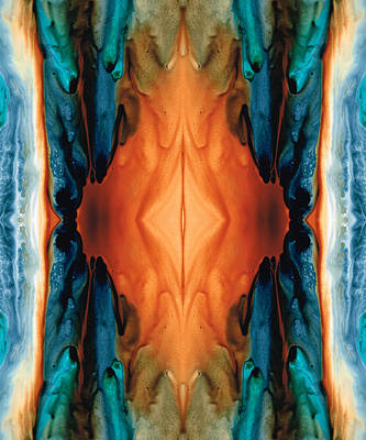 Symmetry Painting - The Great Spirit - Abstract Art By Sharon Cummings by Sharon Cummings