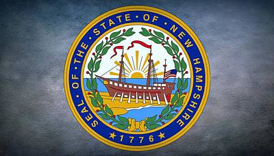 The Great Seal Of The State Of New Hampshire Print by Movie Poster Prints