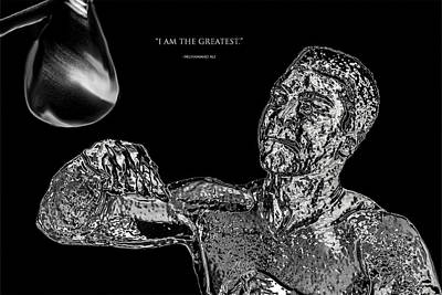 Joe Frazier Digital Art - Muhammad Ali Chrome  by Brian Reaves