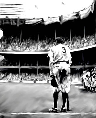 Athletes Drawing - The Greatest Of All  Babe Ruth by Iconic Images Art Gallery David Pucciarelli