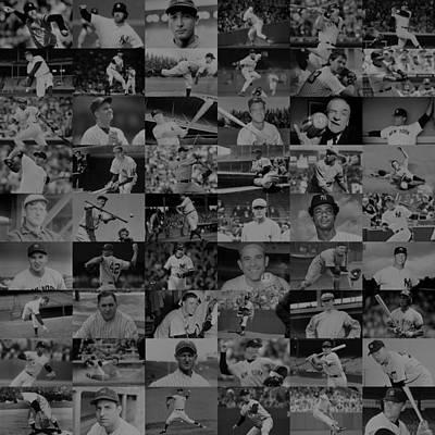 Mickey Mantle Digital Art - The Greatest Yankees - Dark by Doug Halper