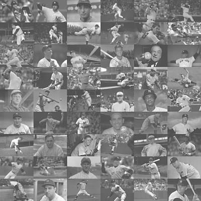 Mickey Mantle Digital Art - The Greatest Yankees - Light by Doug Halper