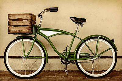 Beach Cruiser Photograph - The Green Bike by Martin Bergsma