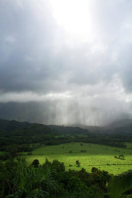 Hanalei Photograph - The Green Valley Surrounding Hanalei by David R. Frazier